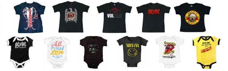 Rock Baby Clothes - Official licensed merchandise for babies