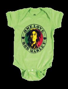 Bob Marley Baby Onesie One Love Lime