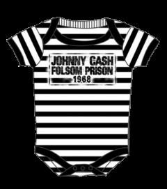 Johnny Cash Onesie Folsom Stripes Baby (Clothing)