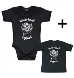 Giftset Motörhead Onesie Baby England & Motörhead Baby T-shirt England