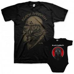 Duo Rockset Black Sabbath Father's T-shirt & Black Sabbath Onesie Baby