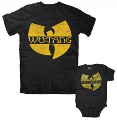 Duo Rockset Wu-Tang Clan Father's T-shirt & Wu-Tang Clan Onesie Baby