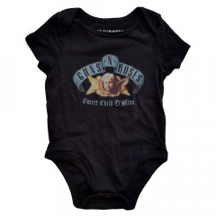 Guns and roses baby romper Bullet