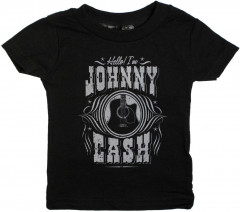 Johnny Cash Kids/Toddler T-shirt- Hello I'm Johnny