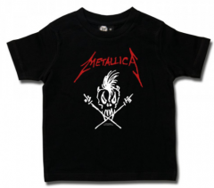 metallica scary guy kids tee red white guy
