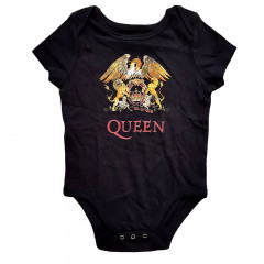 queen crest baby onesie rock