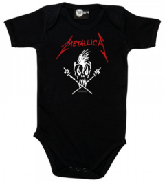 metallica baby onesie scary guy black print
