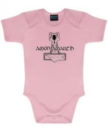 Amon Amarth Onesie Baby Rocker Logo Pink – metal onesies