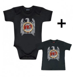 Giftset Slayer Onesie Baby Silver Eagle & Slayer Baby T-shirt Silver Eagle