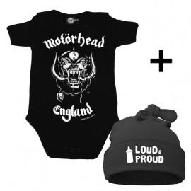 Infant Giftset Motörhead Onesie infant/baby & Loud & Proud Hat