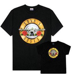 Duo Rockset Guns 'n Roses Father's T-shirt & Baby T-shirt
