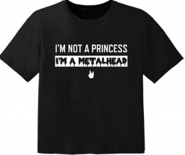 metal baby t-shirt I'm not a princess I'm a metalhead
