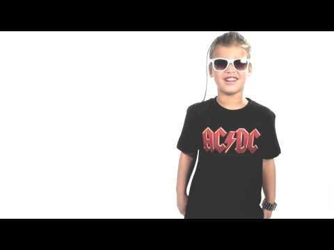 ACDC Kids/Toddler T-shirt - Tee Logo colour AC/DC
