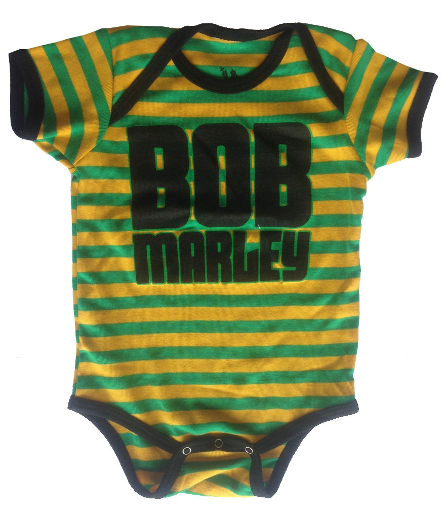 Bob Marley Baby Onesie Jamaica Stripe