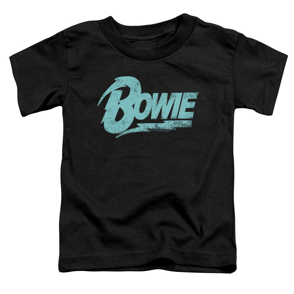 David Bowie Kids T-Shirt Logo Blue