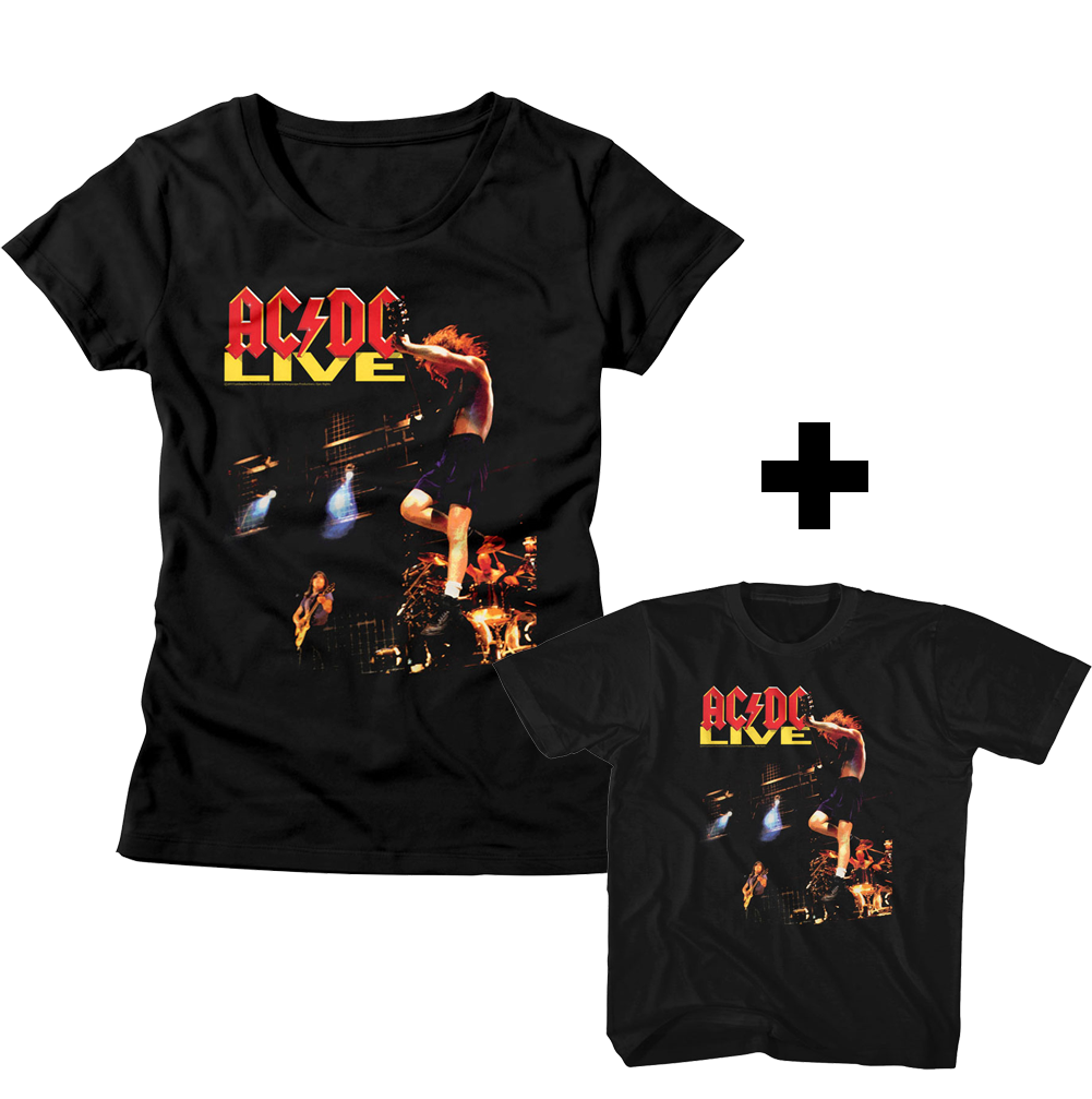 Duo Rockset ACDC kids mama T-Shirt
