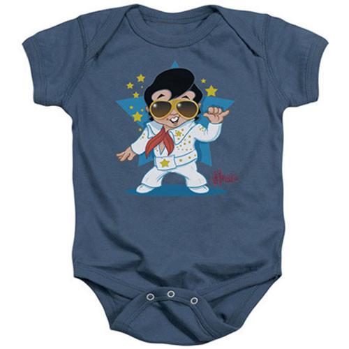 Elvis Baby Onesie Singing Blue