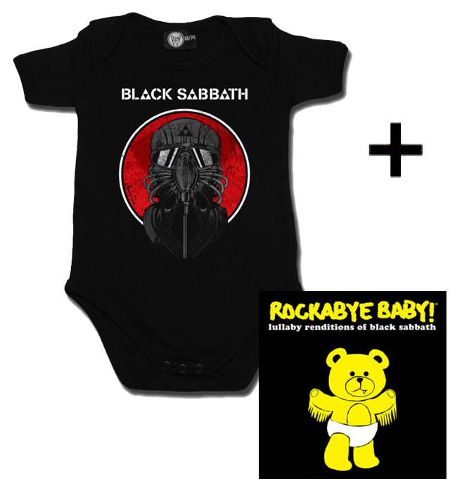 Giftset Black Sabbath Baby Onesie 2014 & Black Sabbath CD
