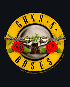 Guns n' Roses close up