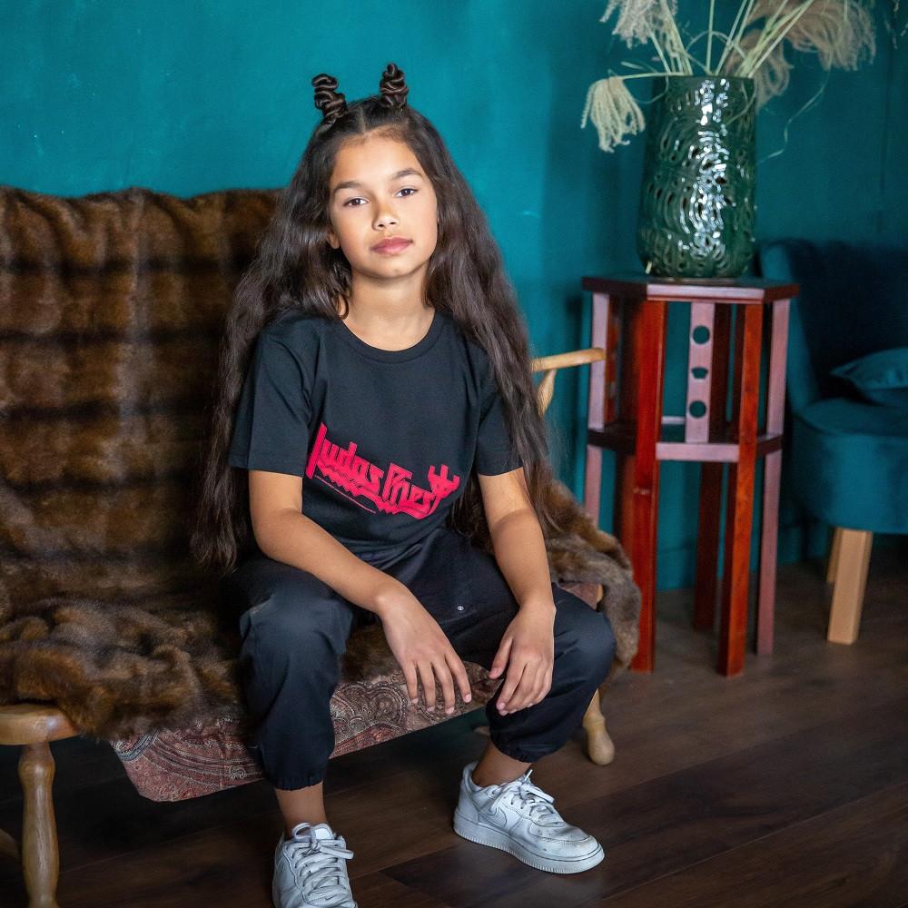Judas Priest Clothes Kids - T-shirt Logo fotoshoot