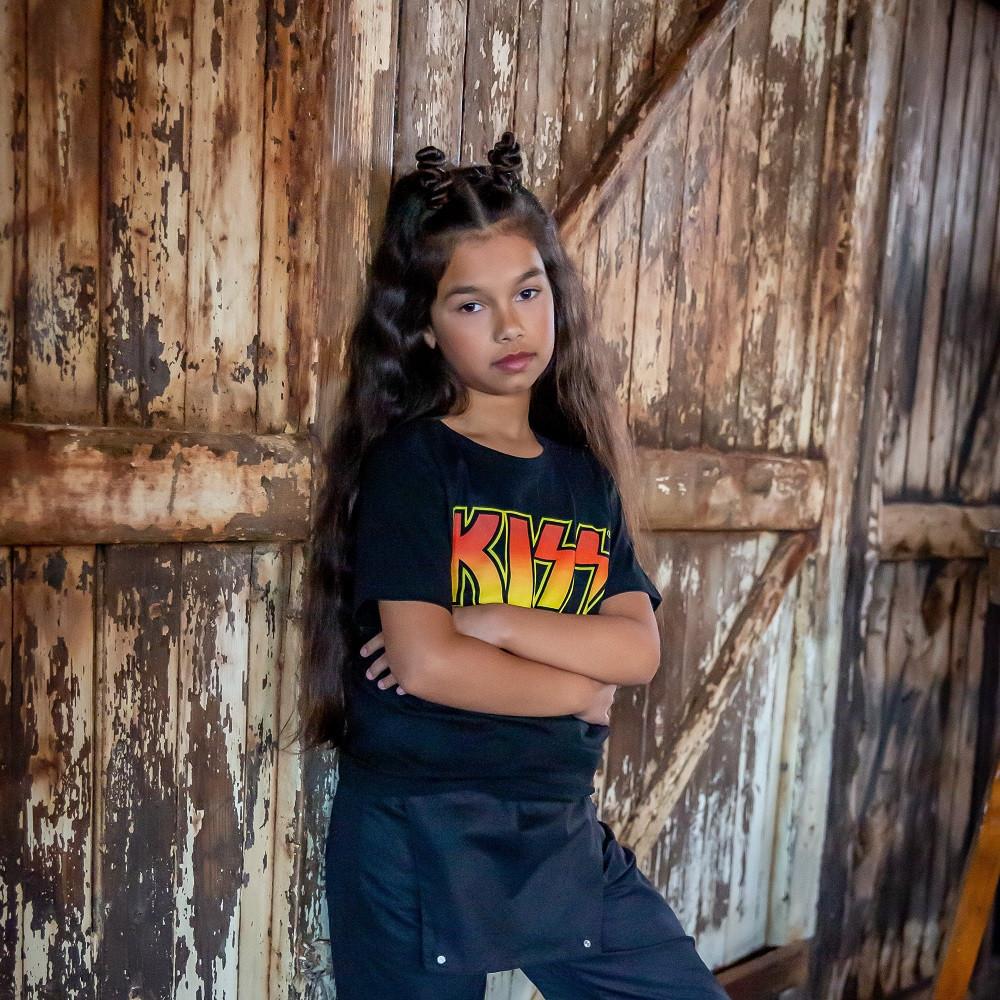 Kiss Kids/Toddler T-shirt Logo fotoshoot