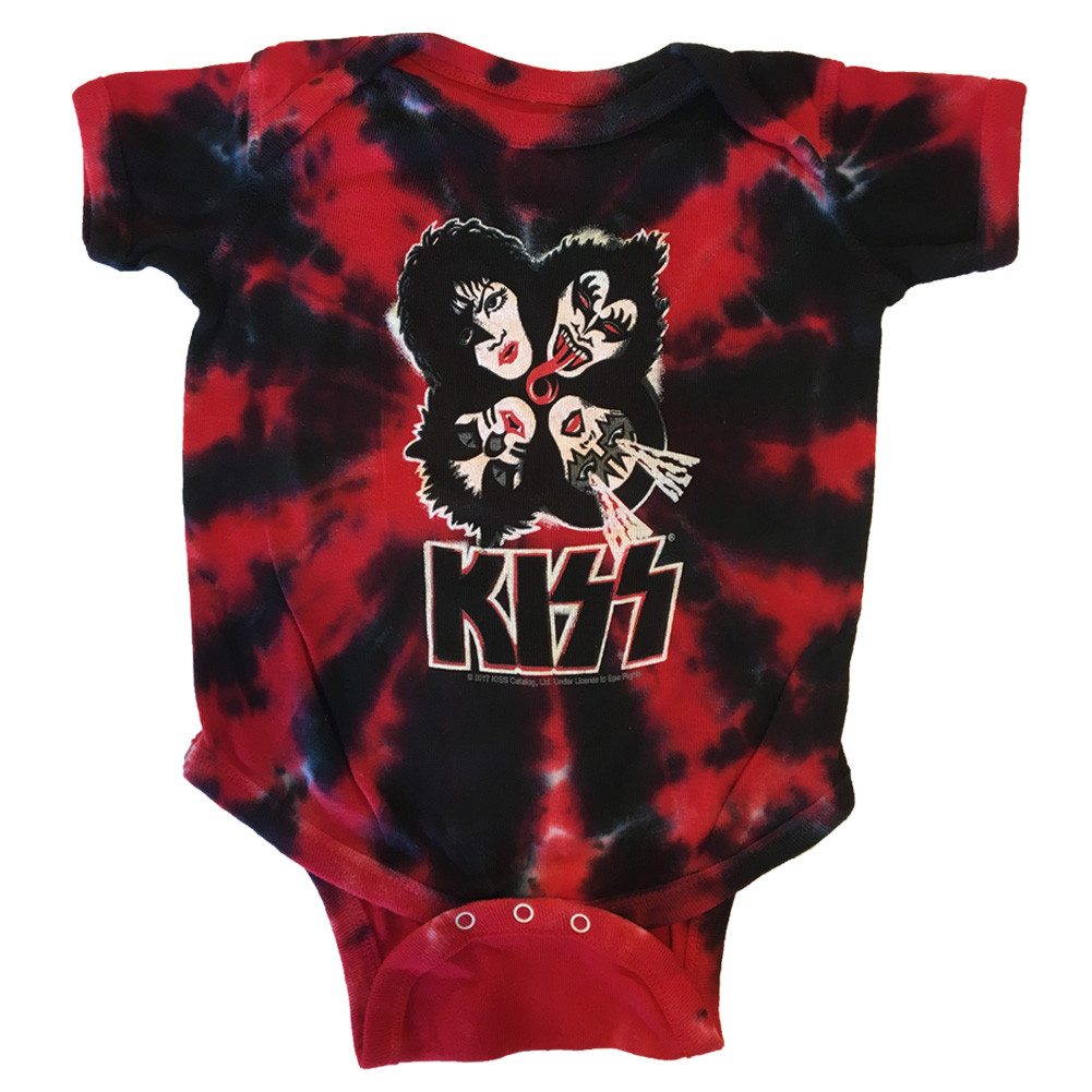 Kiss Baby Onesie Red