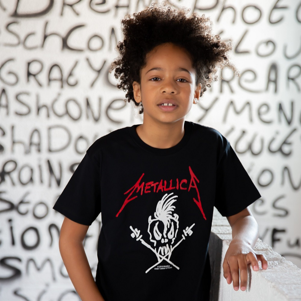 Metallica Clothes Kids - T-shirt Scary Guy fotoshoot