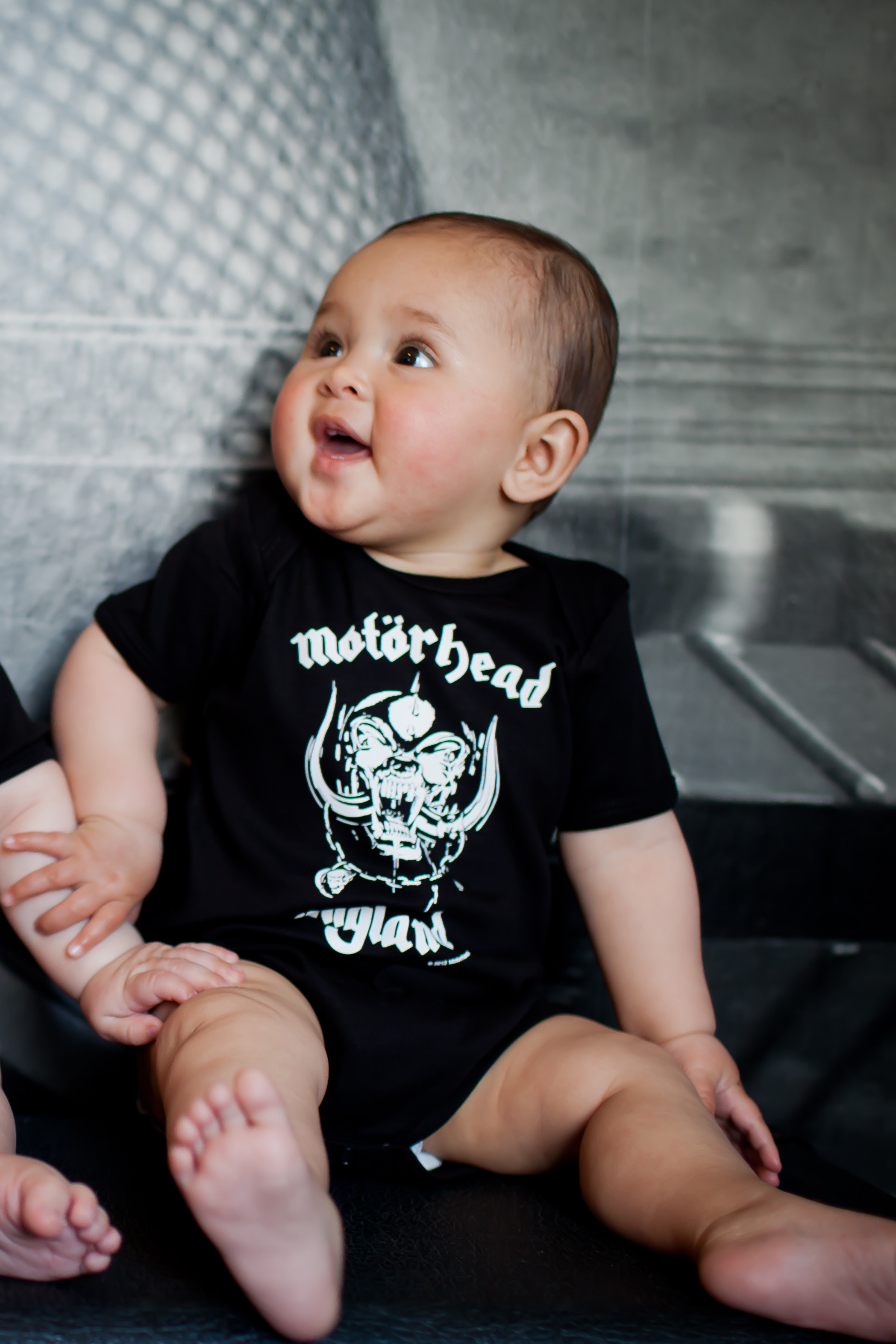 Motorhead baby onesies for little rockers