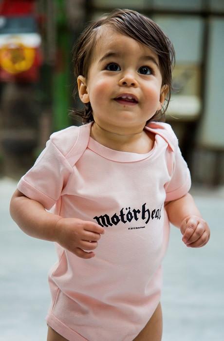 Motörhead Onesie Baby Logo Pink  – metal onesies photoshoot