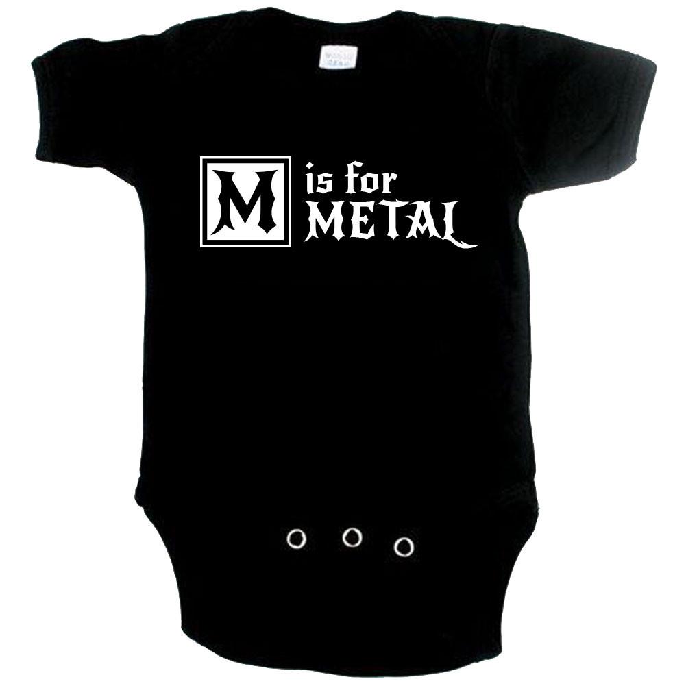 Metal Baby Onesie M is for metal