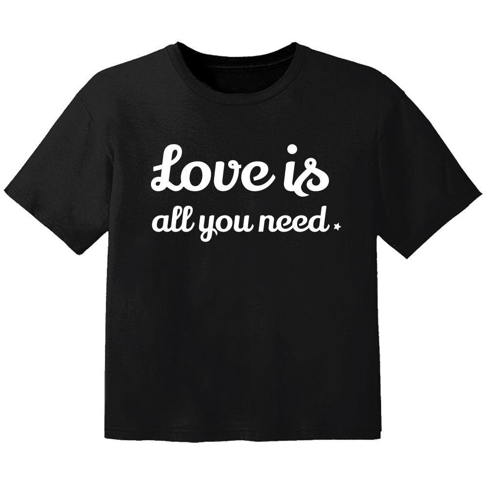 cool baby t-shirt love is all you need