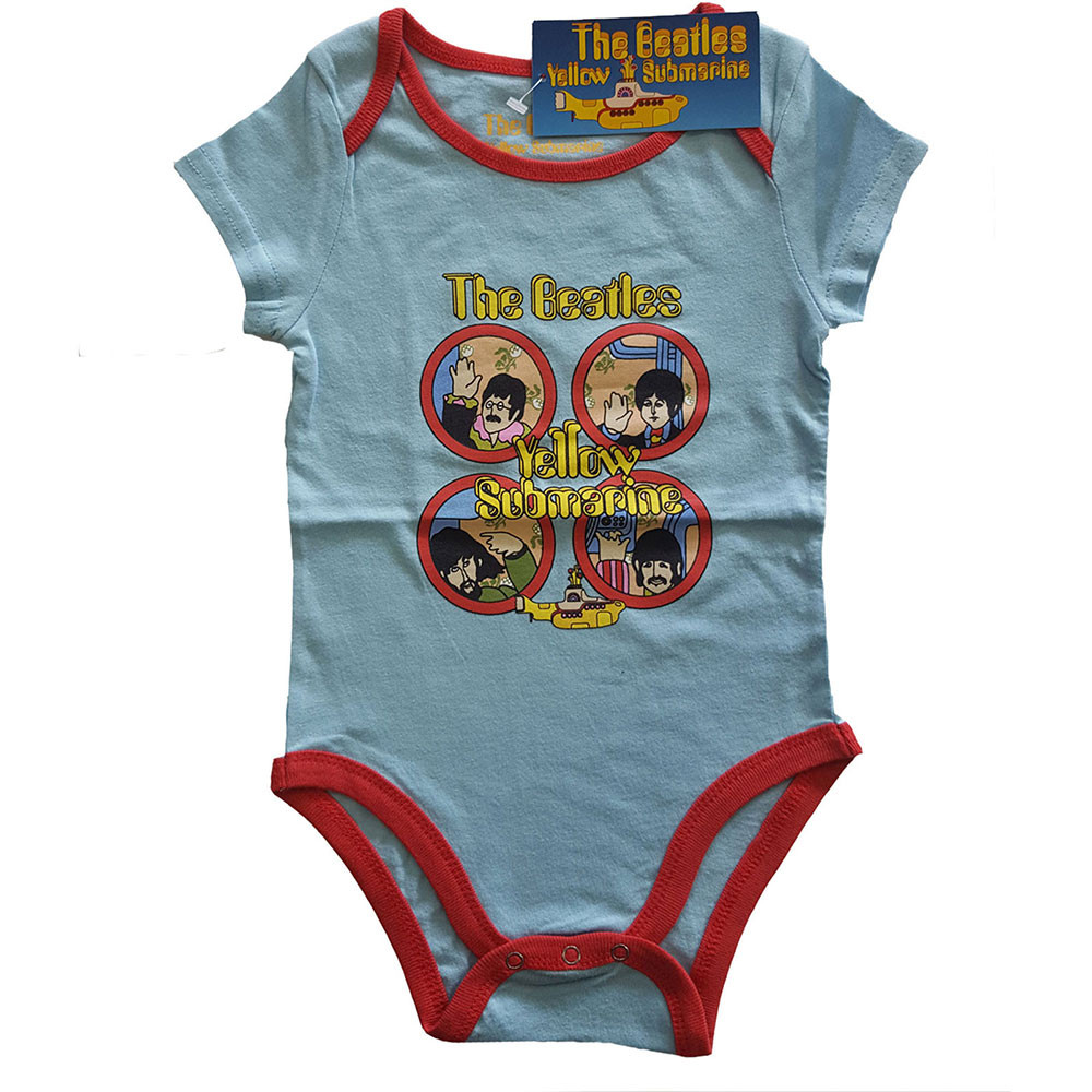 The Beatles Onesie Baby Rocker Yellow Submarine two-tone