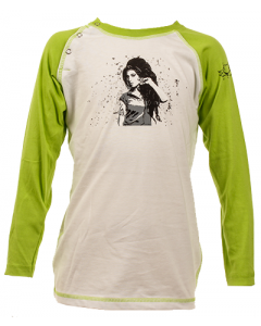 Amy Winehouse Kids Longsleeve Baseball – organic cotton