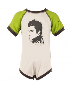 Elvis Baby Romper Onesie Body Green/White – organic cotton