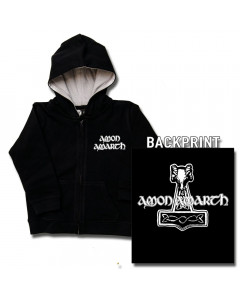 Amon Amarth Kids Hoody Zip Thor's Hammer (print on demand)