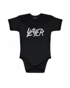 Slayer Onesie Baby Rocker Logo white – metal onesies