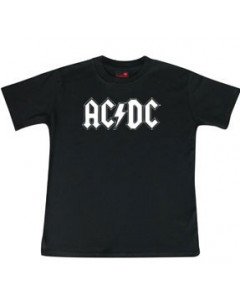 ACDC Kids/Toddler T-shirt - Tee logo white AC/DC
