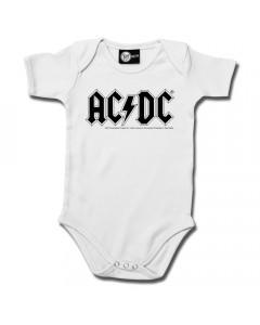 ACDC Onesie White – AC-DC onesies Metal Kids