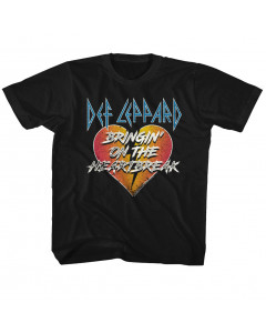 DEF Leppard kids T-Shirt Bringing On the Heartbreak