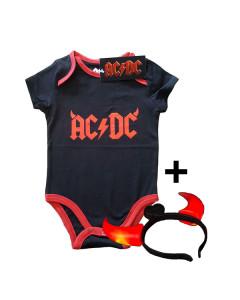 AC/DC Devil Horns Onesie Baby Rocker