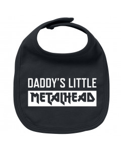 Metal baby bib daddy's little metalhead