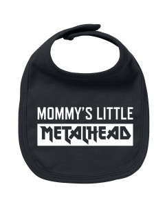 Metal baby bib mommy's little metalhead