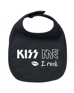 Rock baby bib kiss me I rock