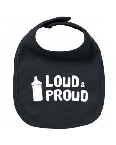 Rock baby bib loud & proud