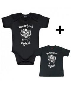Giftset Motörhead Onesie Baby England & Baby T-shirt