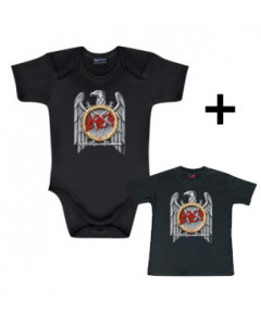 Giftset Slayer Onesie Baby Silver Eagle & Baby T-shirt