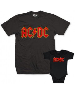 AC/DC Father's T-shirt & AC/DC Onesie Baby Color Logo