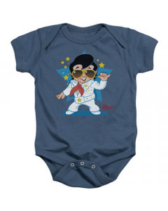 Elvis Baby Onesie Singing Blue