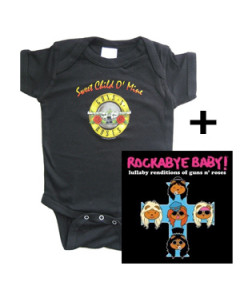 Guns n' Roses romper & CD Lullaby Baby CD giftset