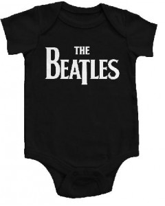 The Beatles Onesie Baby Rocker Eternal Black